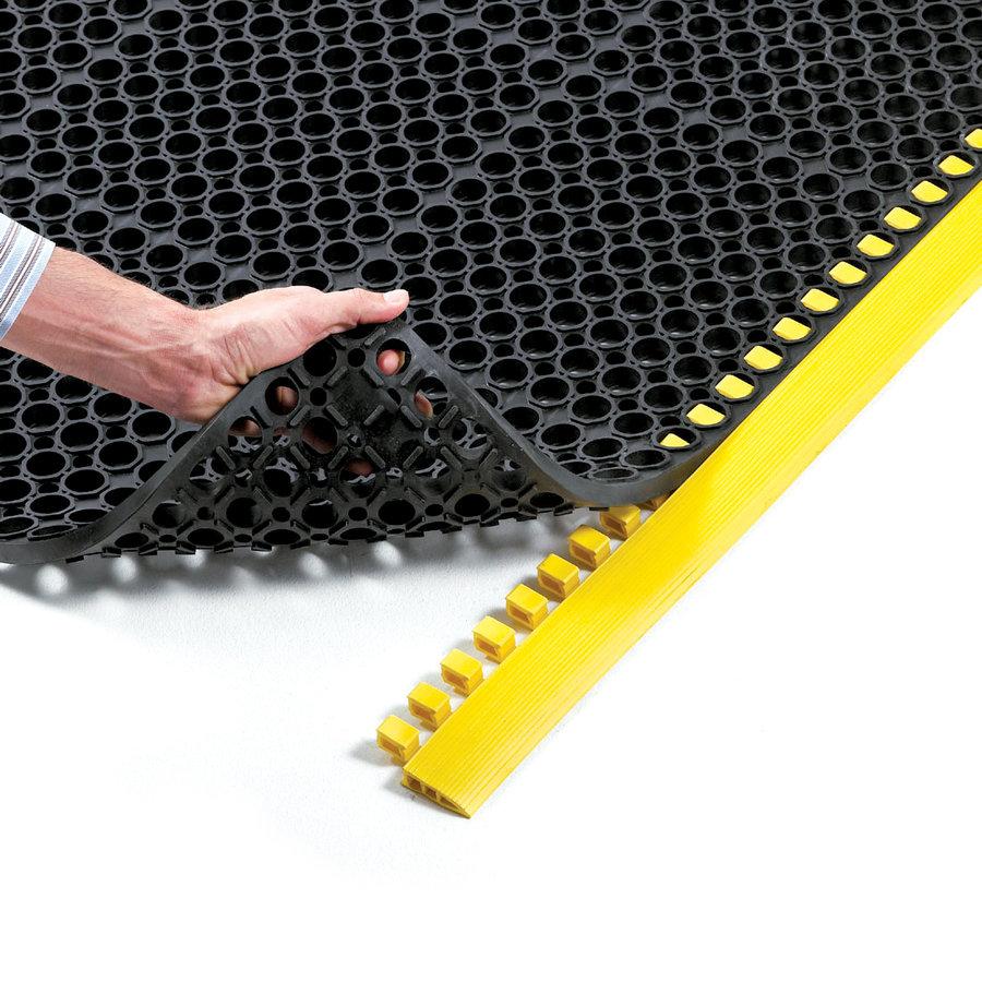 Černá protiúnavová průmyslová rohož Sanitness De Lux, FLOMA - délka 152 cm a šířka 91 cm