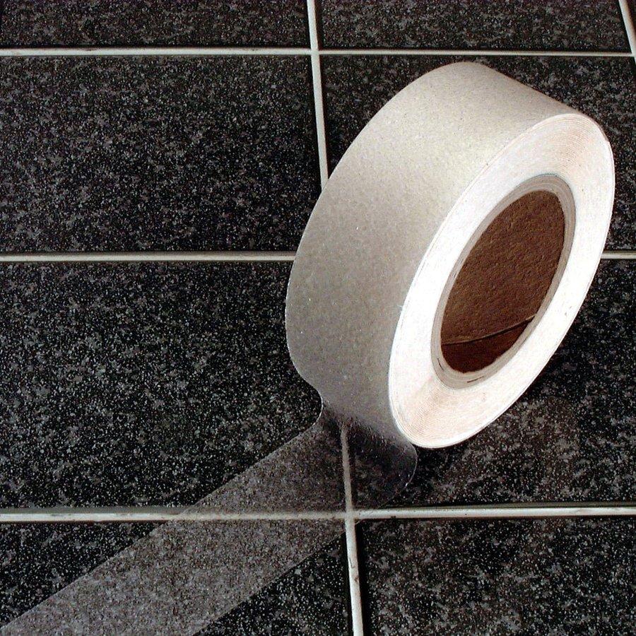 Vinylová protiskluzová průhledná samolepící podlahová páska - délka 18 m a šířka 5 cm