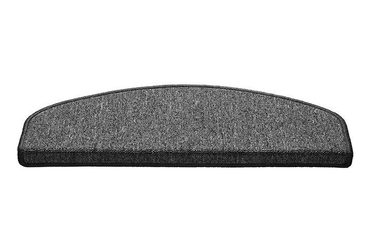 Béžový kobercový půlkruhový nášlap na schody Paris - délka 65 cm a šířka 25 cm