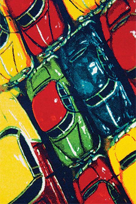 Různobarevný dětský kusový koberec City - délka 170 cm a šířka 120 cm