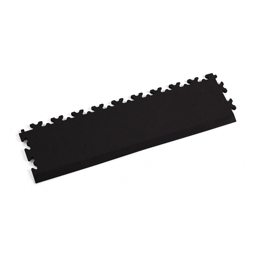 Černý vinylový plastový nájezd Fortelock Eco 2025 (kůže) - délka 51 cm, šířka 14 cm a výška 0,7 cm
