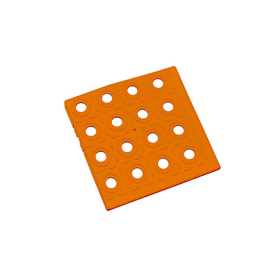 Oranžový plastový roh AvaTile AT-HRD - délka 13,7 cm, šířka 13,7 cm a výška 1,6 cm