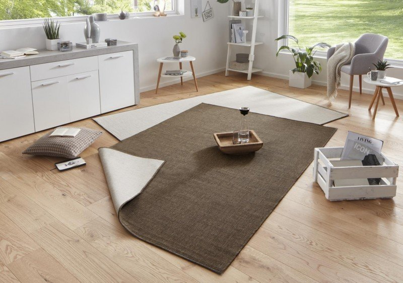 Hnědý kusový oboustranný koberec Twin-Wendeteppiche - délka 230 cm a šířka 160 cm