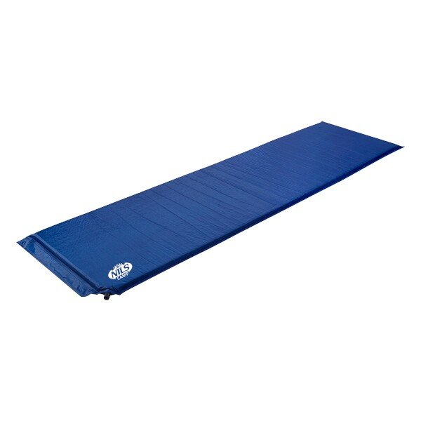 Modrá samonafukovací karimatka - délka 183 cm, šířka 54 cm a výška 2,5 cm