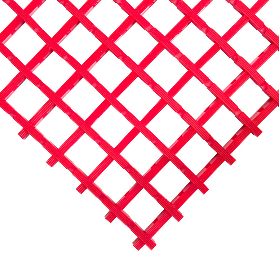 Červená olejivzdorná protiskluzová průmyslová univerzální rohož (mřížka 22 x 22 mm) - výška 1,2 cm