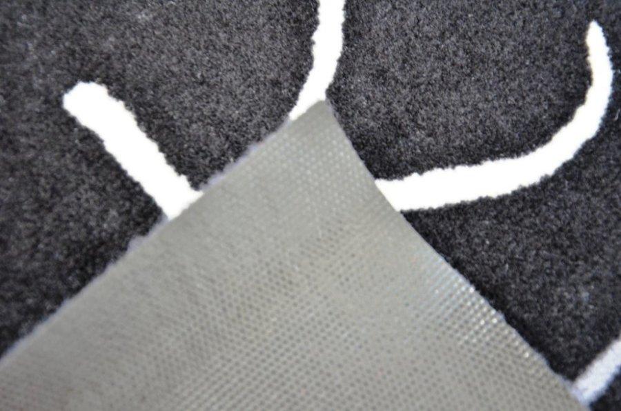 Černá kuchyňská předložka - délka 150 cm a šířka 50 cm