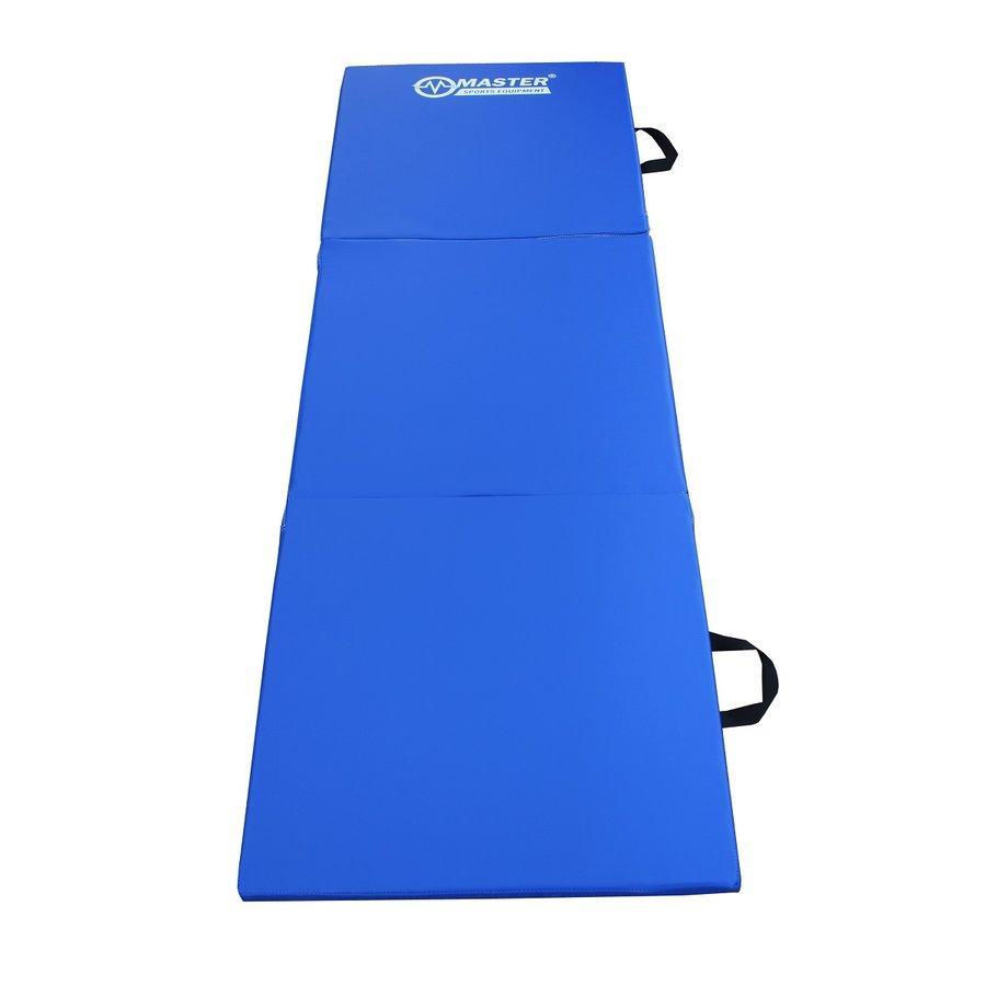 Modrá skládací žíněnka - délka 180 cm, šířka 60 cm a výška 3,5 cm
