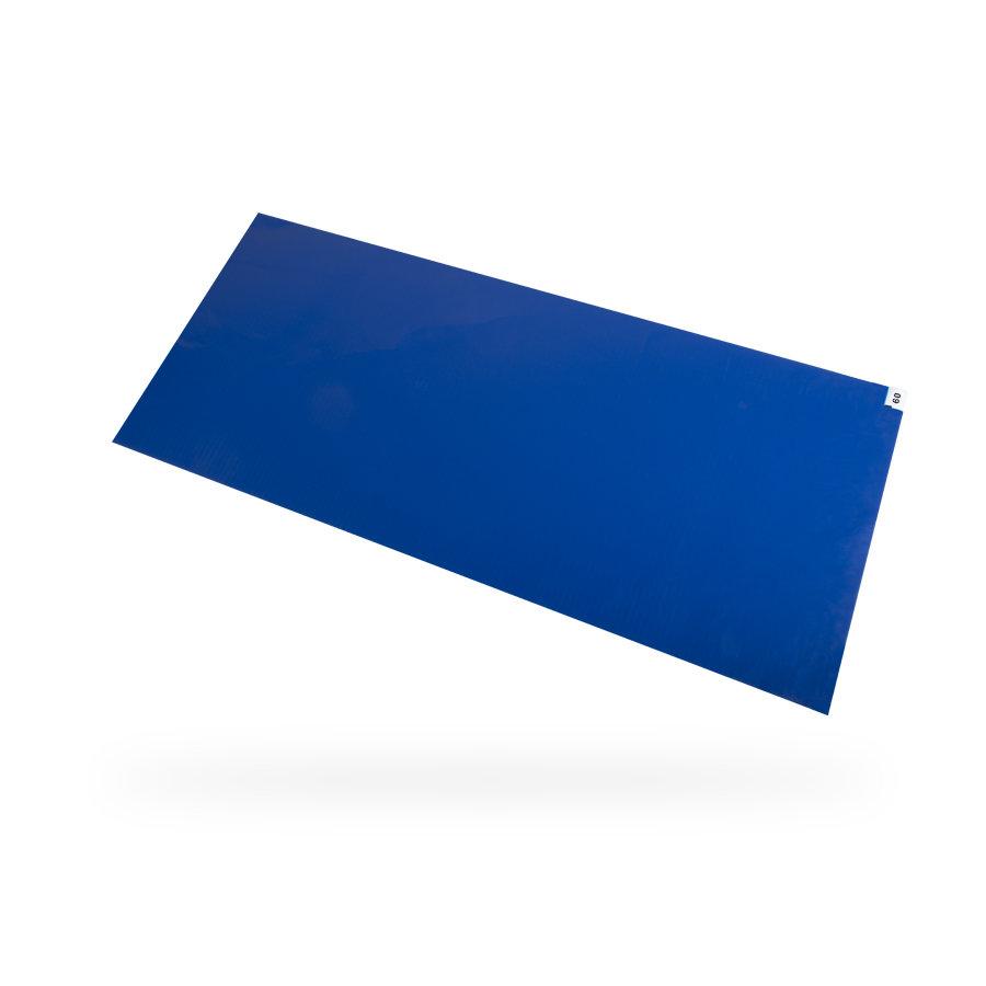 Modrá lepící dezinfekční hygienická rohož - délka 115 cm, šířka 60 cm a výška 0,2 cm