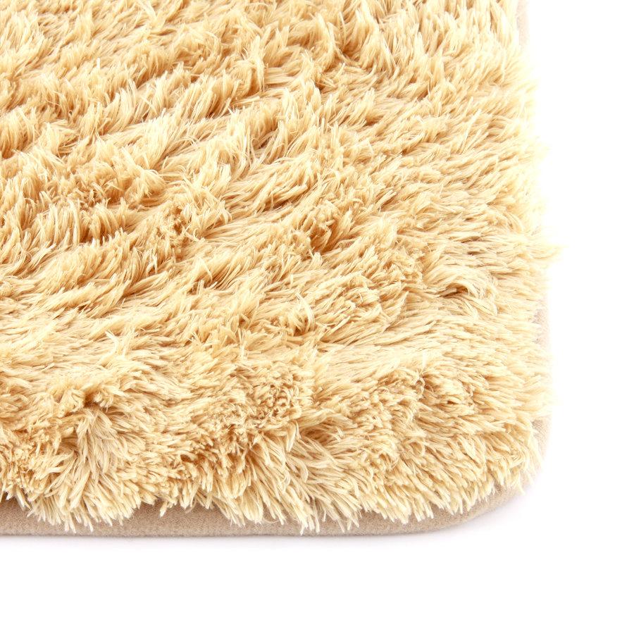Béžová koupelnová pěnová předložka 02 - délka 80 cm a šířka 50 cm
