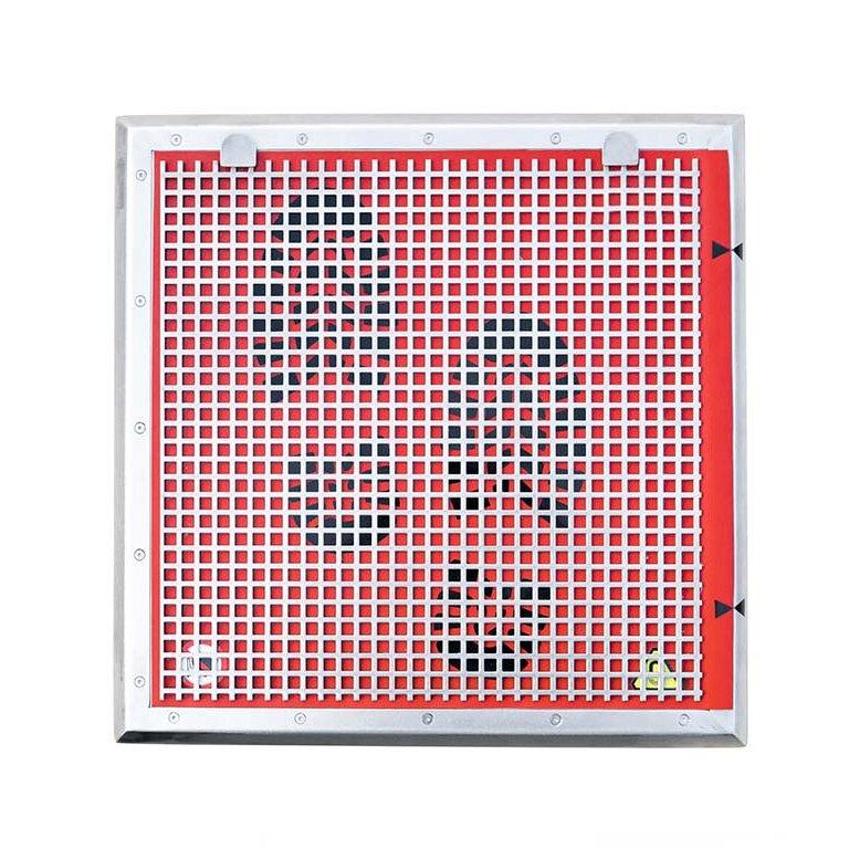 Nerezová magnetická rohož s drapákem - výška 2,5 cm