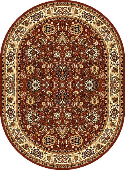 Hnědý kusový orientální oválný koberec Teheran-T