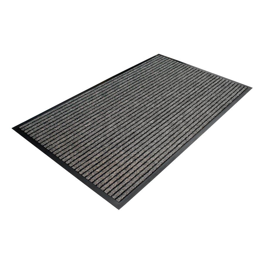 Šedá textilní vstupní vnitřní čistící rohož 02 - délka 60 cm, šířka 90 cm a výška 0,7 cm