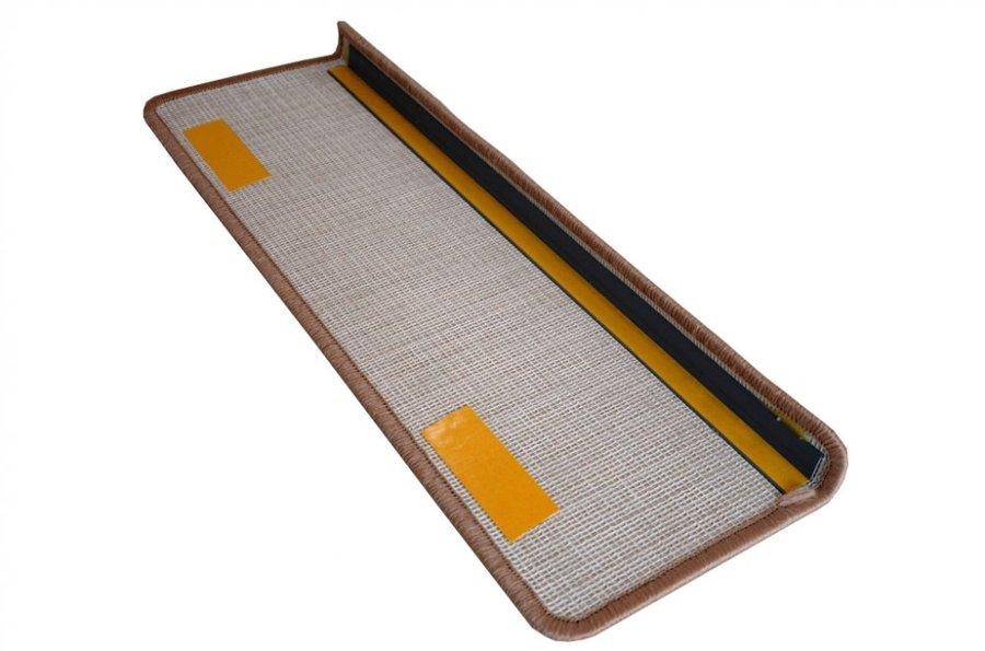 Béžový kobercový nášlap na schody Eton - délka 20 cm a šířka 65 cm