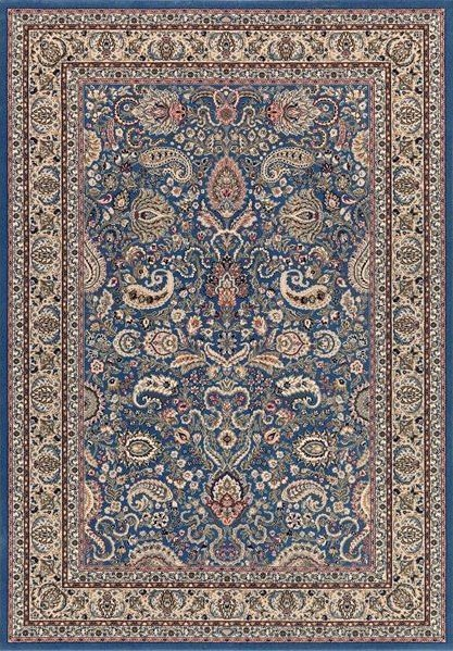 Modrý kusový orientální koberec Diamond - šířka 85 cm