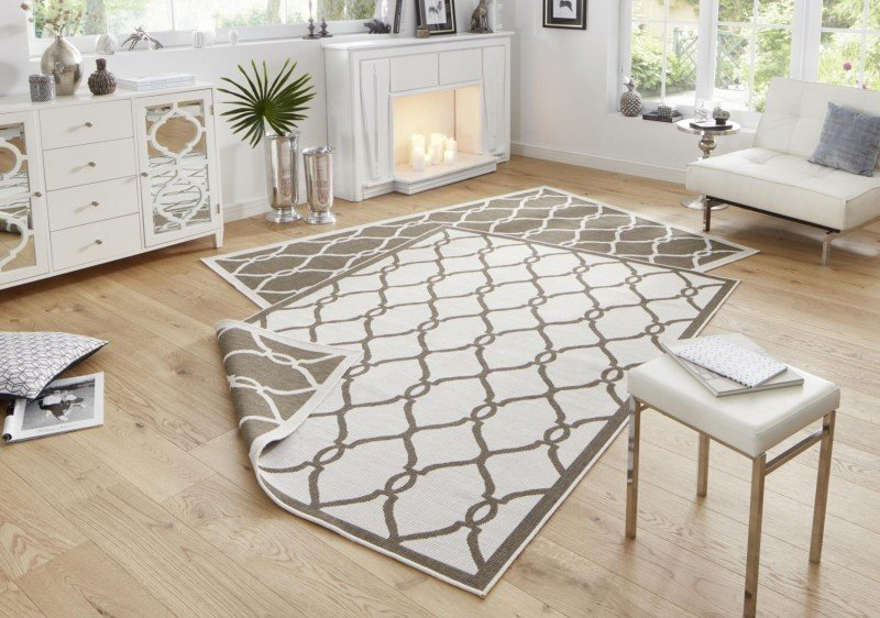 Béžovo-hnědý oboustranný kusový koberec Twin-Wendeteppiche - délka 350 cm a šířka 80 cm