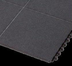 Černá protiskluzová protiúnavová průmyslová rohož FLOMA - délka 91 cm, šířka 91 cm a výška 1,9 cm