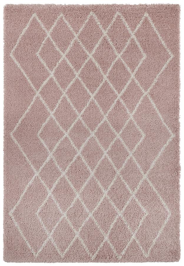 Růžový kusový moderní koberec Allure