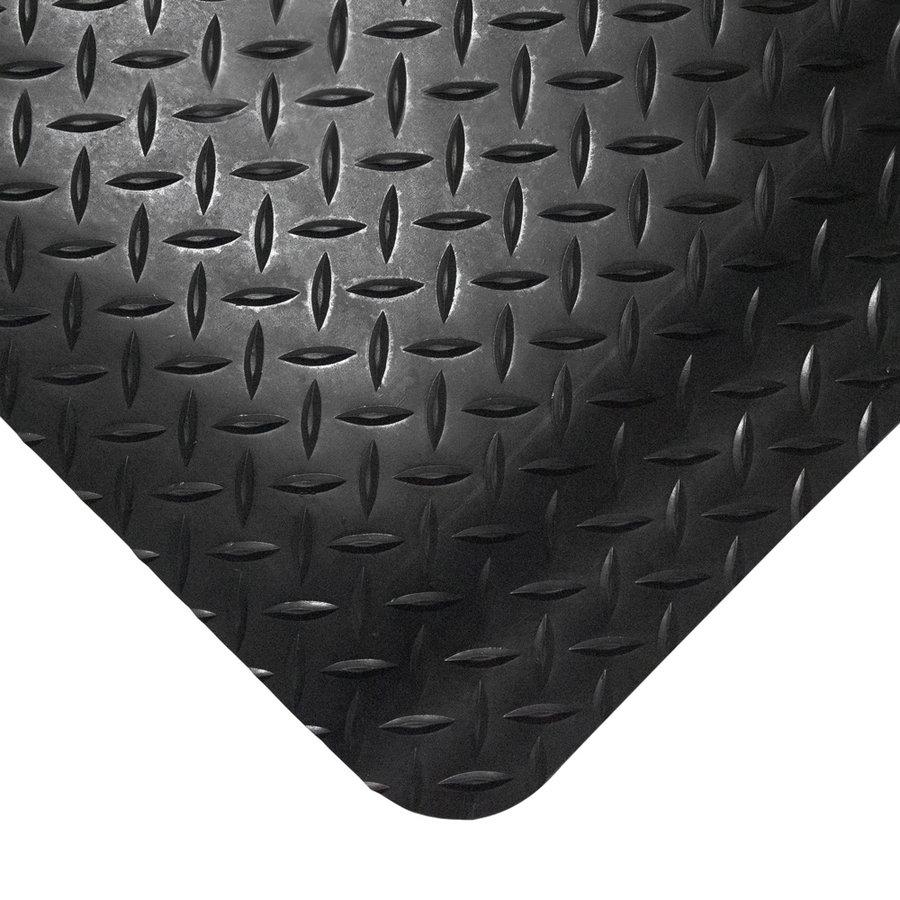 Černá gumová průmyslová protiúnavová rohož - délka 18,3 m, šířka 90 cm a výška 1,4 cm