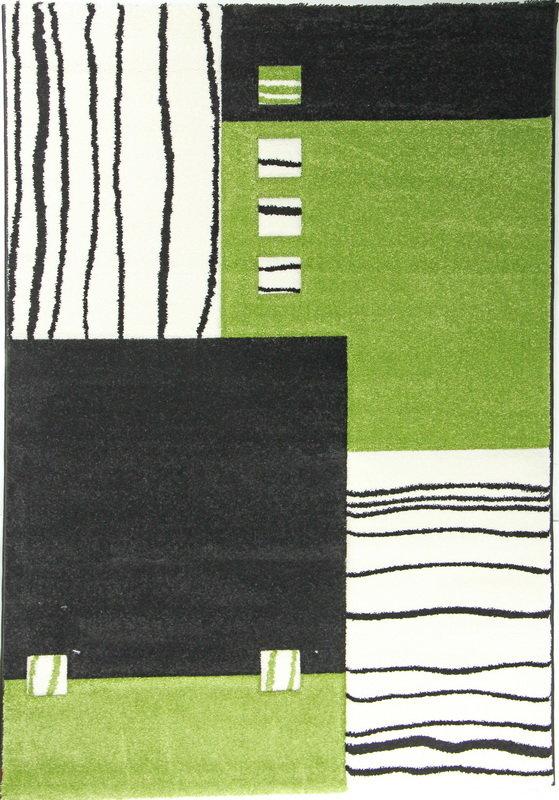 Zelený kusový moderní koberec Hawaii