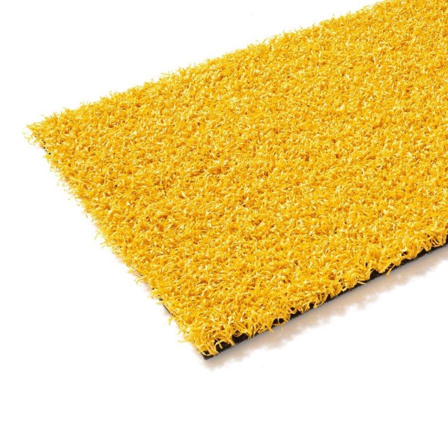 Žlutý umělý trávník (metráž) FLOMA Colourfull Grass Yellow - délka 1 cm a výška 1,4 cm