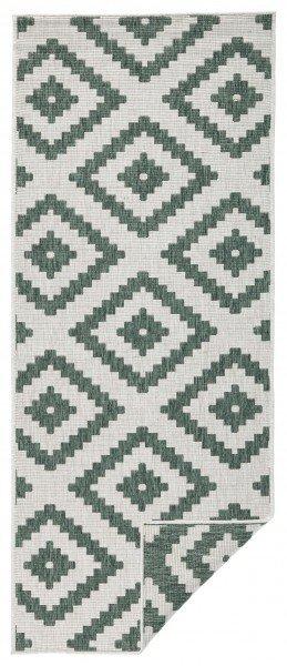 Zelený kusový moderní koberec Twin-Wendeteppiche - délka 170 cm a šířka 120 cm