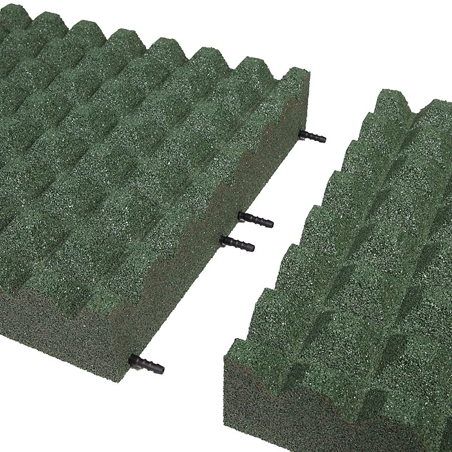 Zelená gumová dlaždice (V100/R28) - délka 50 cm, šířka 50 cm a výška 10 cm