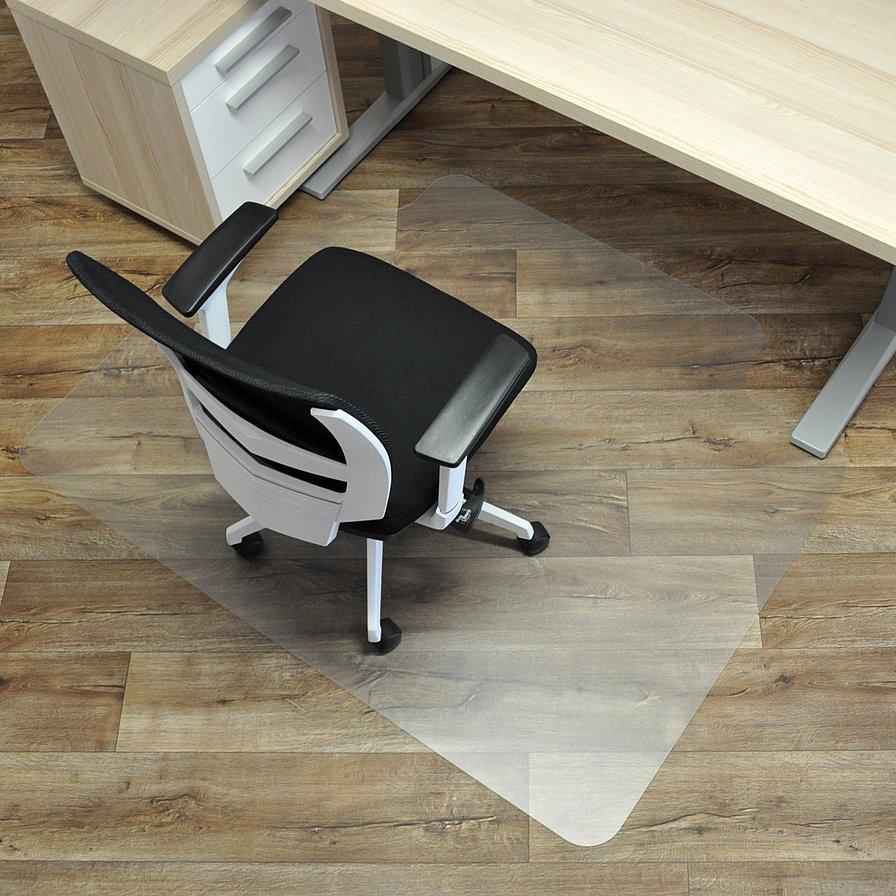 Průhledná podložka pod židli na hladké povrchy - délka 150 cm, šířka 120 cm a výška 0,15 cm