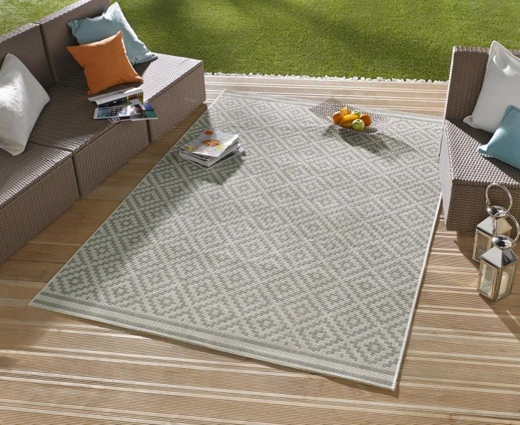 Hnědý kusový moderní koberec Meadow - délka 150 cm a šířka 80 cm
