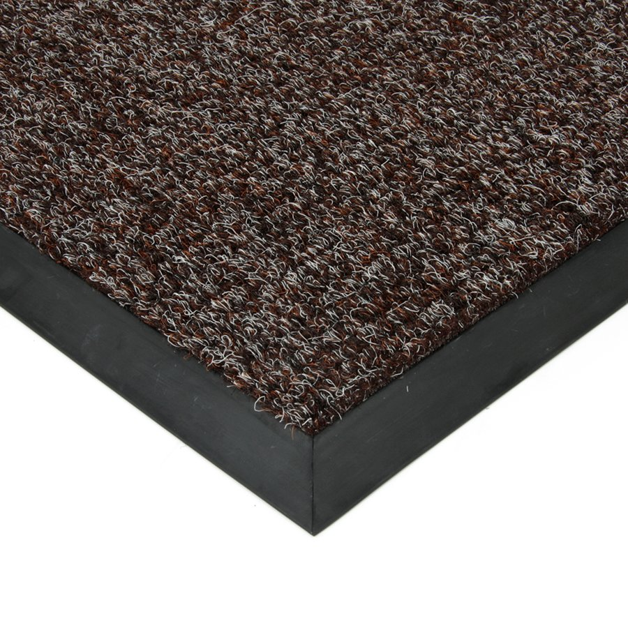 Tmavě hnědá textilní vstupní vnitřní čistící zátěžová rohož Catrine, FLOMAT - délka 150 cm, šířka 200 cm a výška 1,35 cm