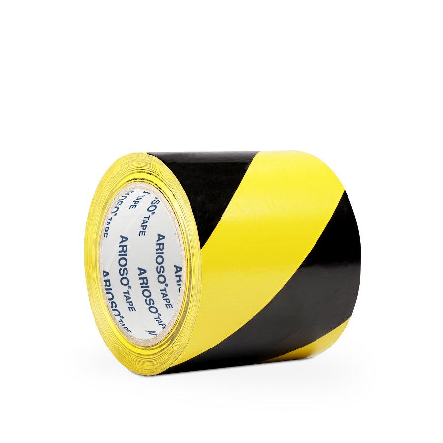 Černo-žlutá vyznačovací samolepící podlahová páska - délka 33 m a šířka 10 cm