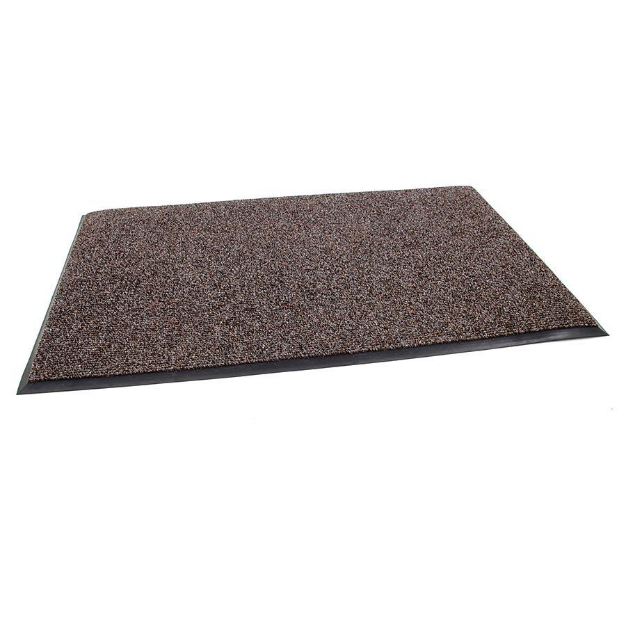 Tmavě hnědá textilní zátěžová čistící vnitřní vstupní rohož Catrine, FLOMA - délka 120 cm, šířka 170 cm a výška 1,35 cm