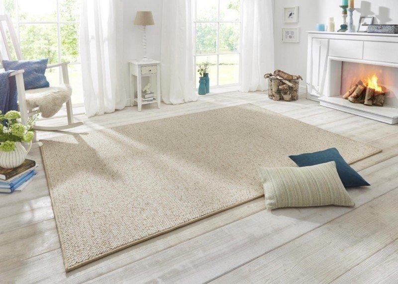 Béžový kusový moderní koberec Wolly