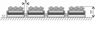 Textilní hliníková vnitřní vstupní rohož Alu Standard, FLOMA - délka 100 cm, šířka 100 cm a výška 1,7 cm