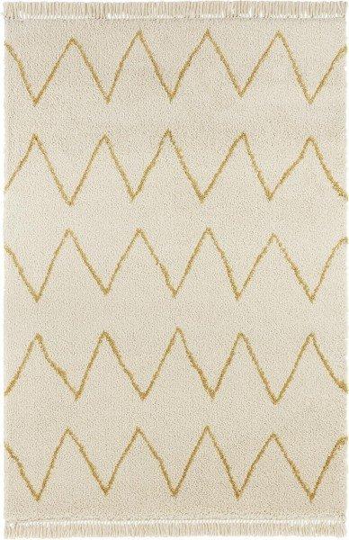 Béžový kusový moderní koberec Desiré