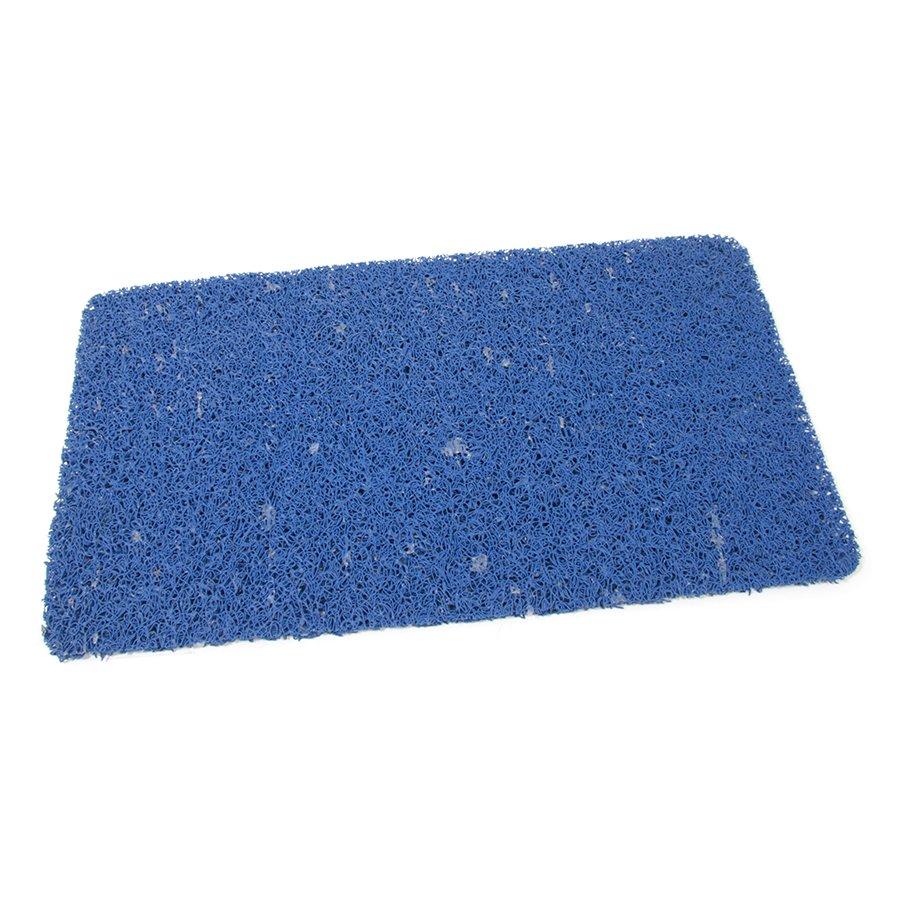 Modrá vinylová protiskluzová sprchová rohož Spaghetti, FLOMA - délka 35 cm, šířka 59,5 cm a výška 1,2 cm