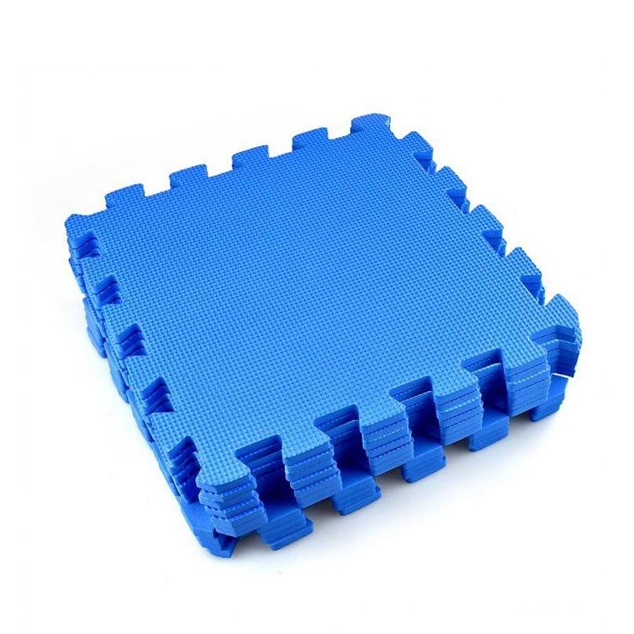 Modrá modulární pěnová podložka - délka 30 cm, šířka 30 cm a výška 1,2 cm - 12 ks