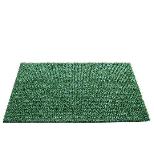 Zelená plastová vstupní rohož - délka 55 cm, šířka 90 cm a výška 2 cm