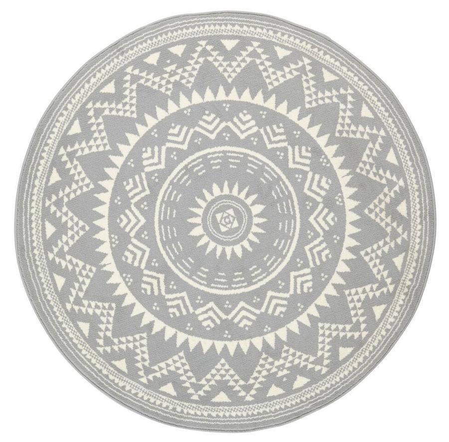 Šedý kusový kulatý koberec Valencia, Celebration - průměr 200 cm