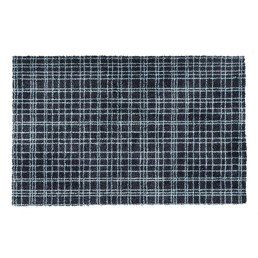 Modrá metrážová čistící vnitřní vstupní pratelná rohož Fusion Dry - délka 1 cm