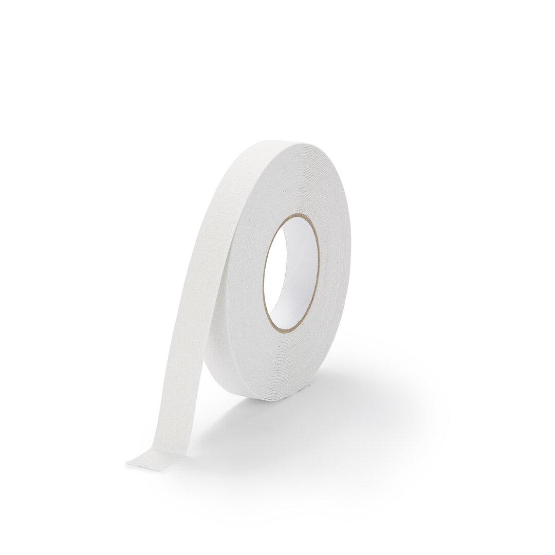 Bílá korundová protiskluzová podlahová páska FLOMA Marine - délka 18,3 m, šířka 2,5 cm a tloušťka 0,99 mm