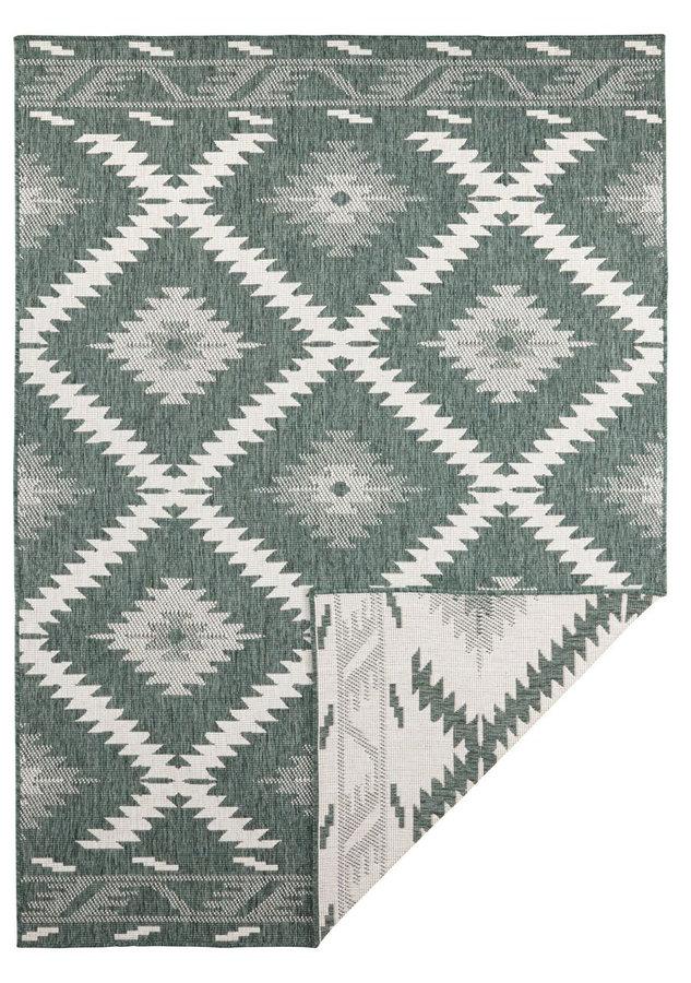 Zelený oboustranný moderní koberec Twin-Supreme, Malibu