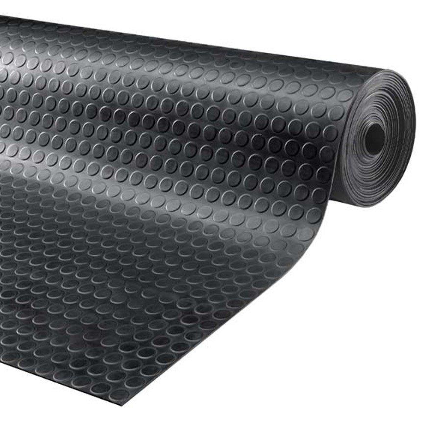 Černá průmyslová protiskluzová podlahová guma Noppa - délka 10 m, šířka 120 cm a výška 0,3 cm