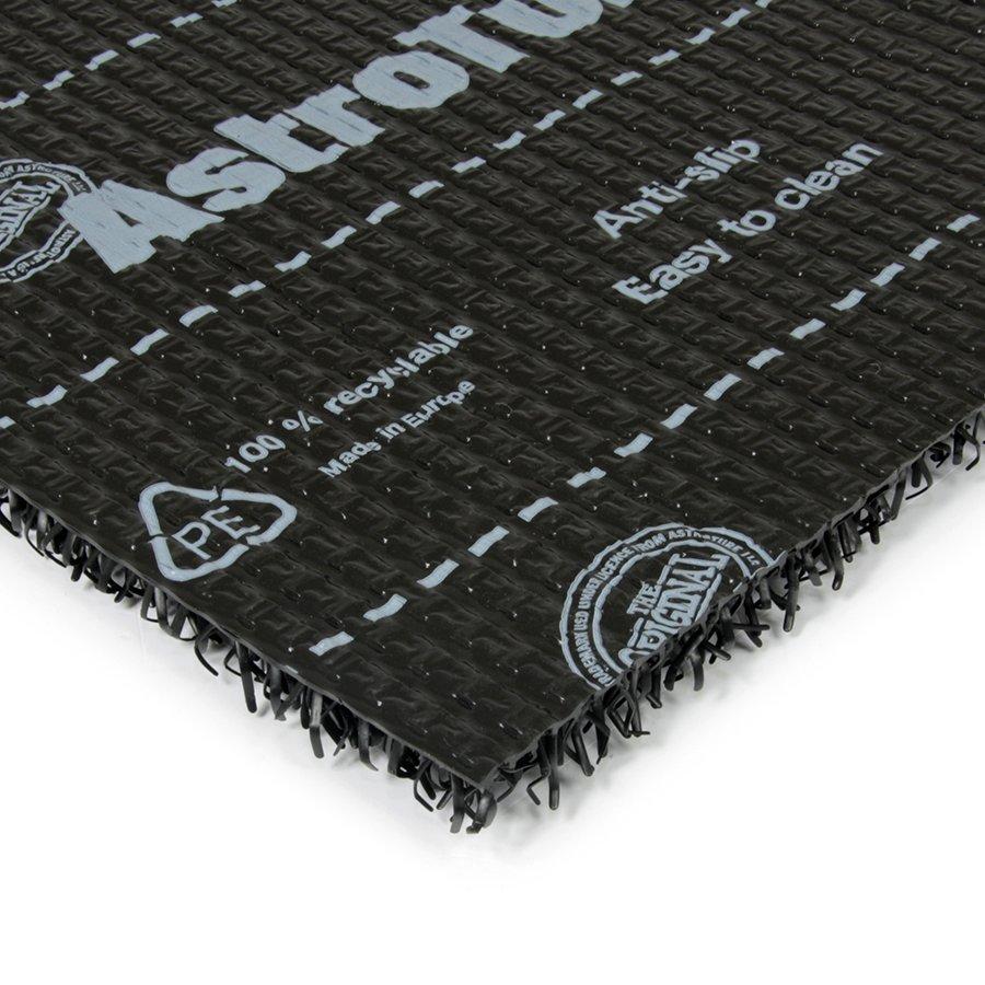 Černá plastová vstupní univerzální čistící metrážová rohož Astra, FLOMA - šířka 91 cm a výška 1,8 cm
