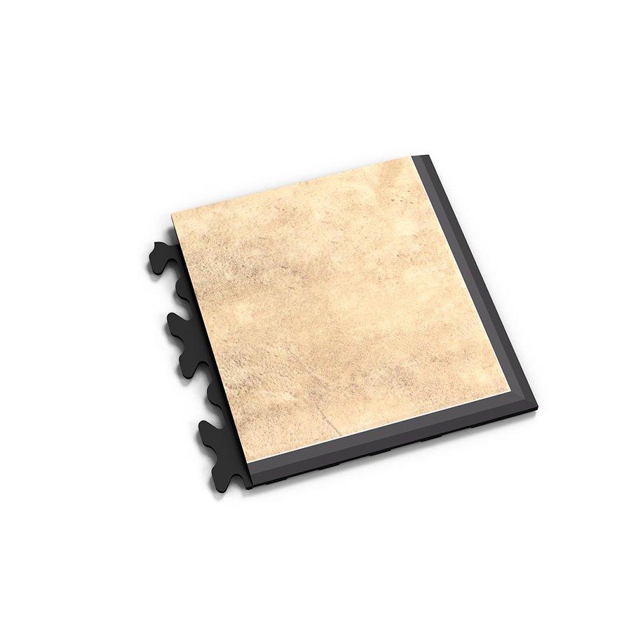 "Béžový vinylový plastový rohový nájezd ""typ D"" Fortelock Business Decor 2129 - délka 14,5 cm, šířka 14,5 cm a výška 0,65 cm"