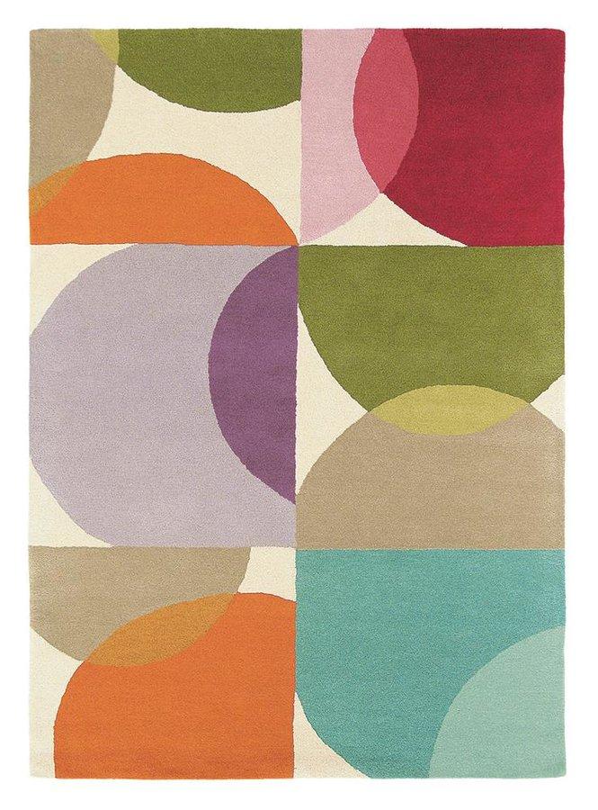Různobarevný kusový moderní koberec Kaleido