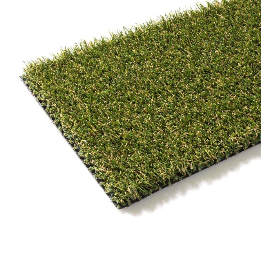 Zelený metrážový umělý trávník Ancona, FLOMA - délka 1 cm a výška 2 cm