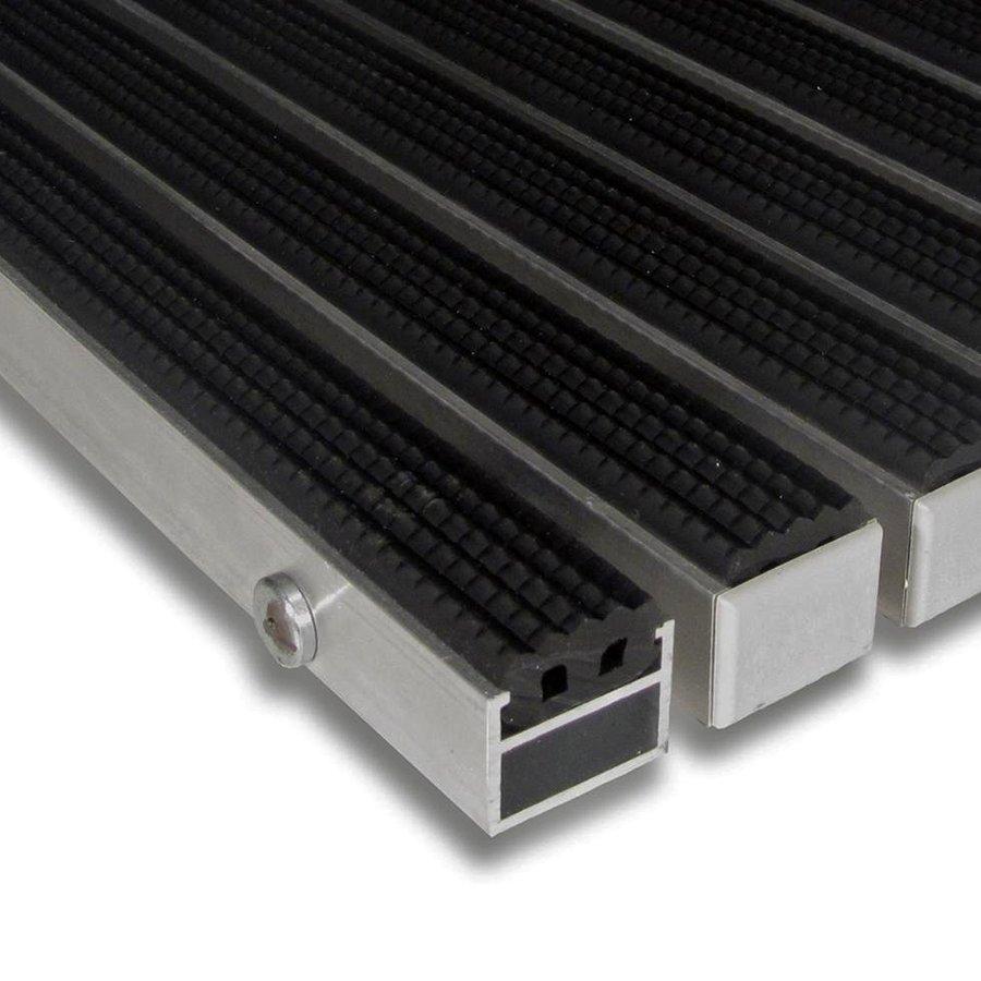 Gumová hliníková venkovní vstupní rohož Alu Standard, FLOMAT (Bfl-S1) - délka 1 cm, šířka 1 cm a výška 2,7 cm