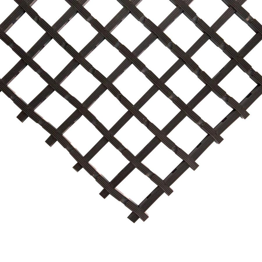 Černá univerzální průmyslová protiskluzová olejivzdorná rohož (mřížka 22 x 22 mm) - délka 5 m, šířka 60 cm a výška 1,2 cm