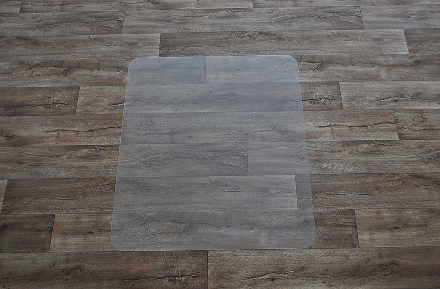 Průhledná podložka pod židli na hladké povrchy - délka 120 cm, šířka 100 cm a výška 0,15 cm