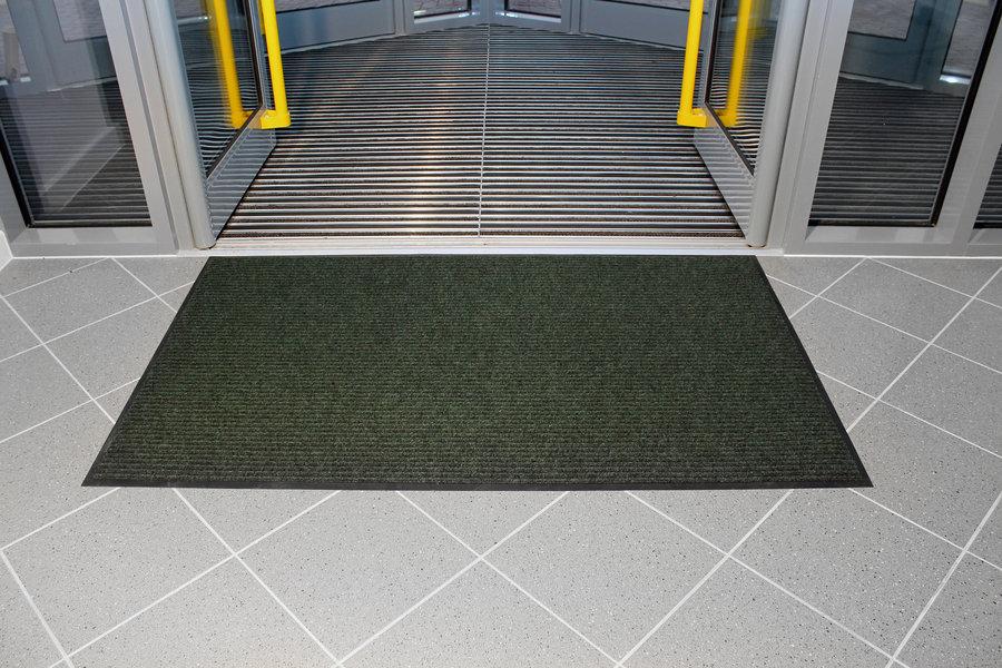 Zelená textilní vstupní vnitřní čistící rohož - délka 120 cm, šířka 180 cm a výška 0,7 cm